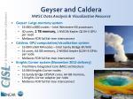 geyser and caldera nwsc data analysis visualization resource