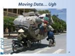 moving data ugh