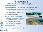 yellowstone nwsc high performance computing resource