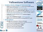 yellowstone software
