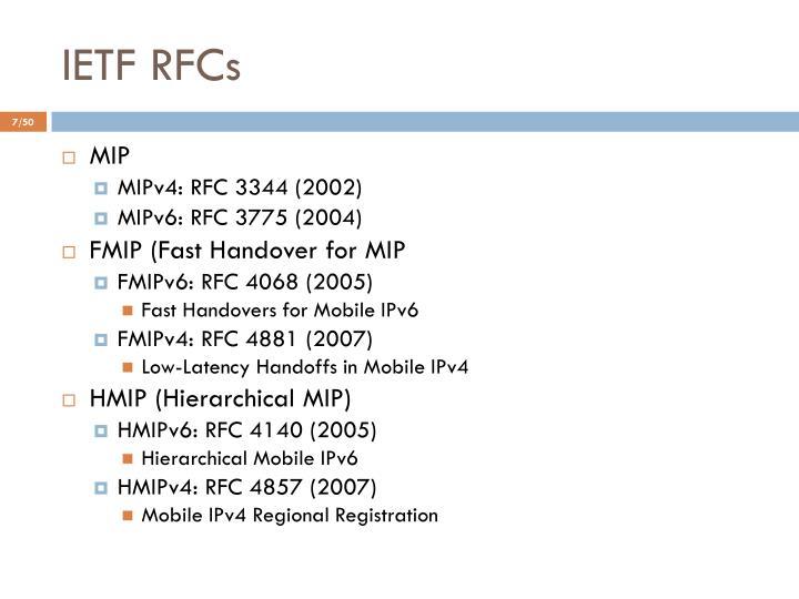 IETF RFCs