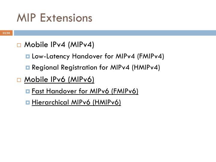 MIP Extensions