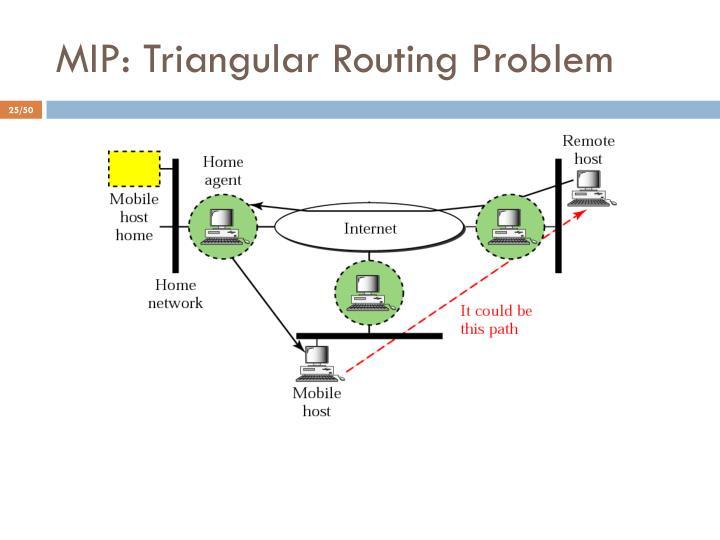 MIP: Triangular Routing Problem