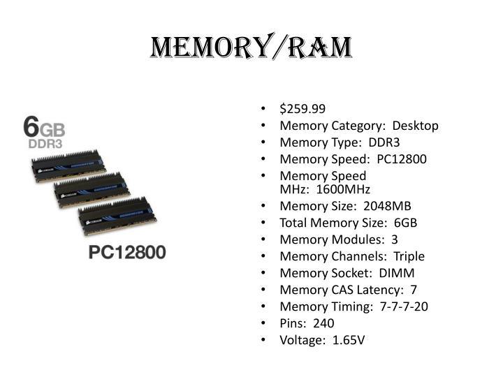 Memory/Ram