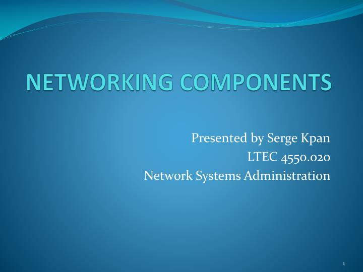 PPT - NETWORKING COMPONENTS PowerPoint Presentation - ID:2382637