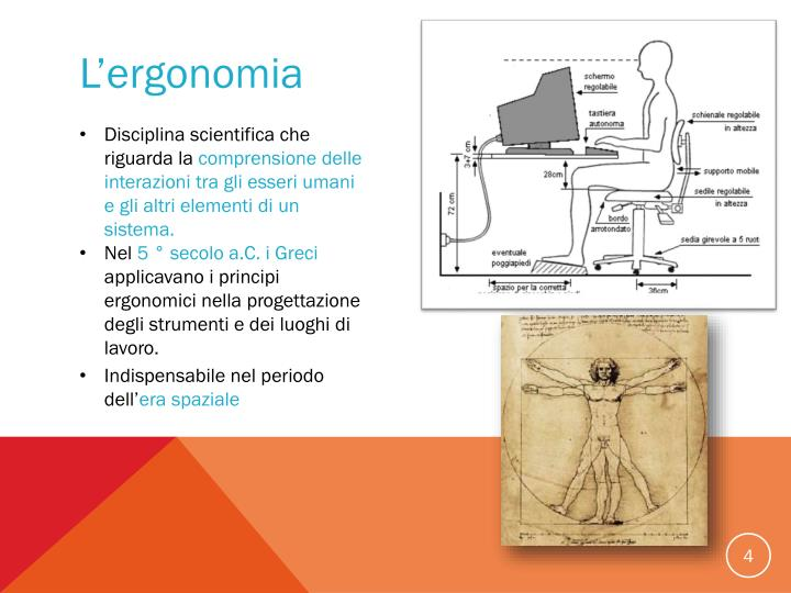 L'ergonomia