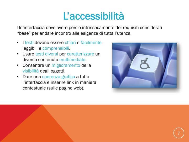 L'accessibilità