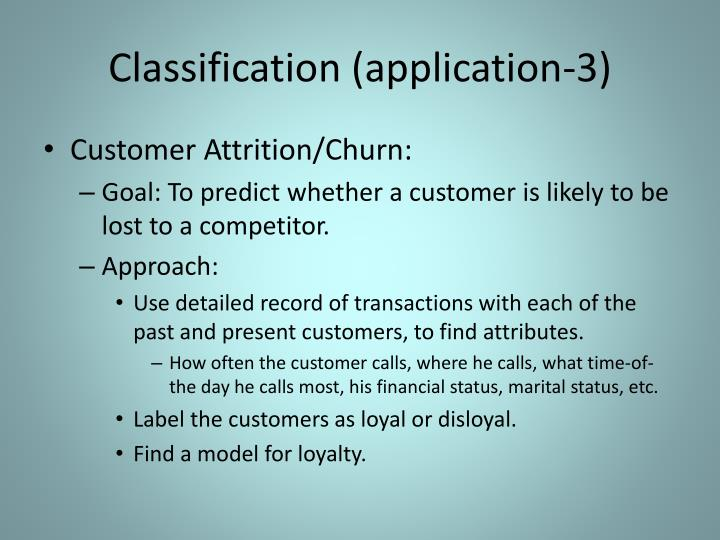 Classification (application-3)