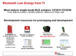 bluetooth low energy from ti