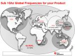 sub 1ghz global frequencies for your product