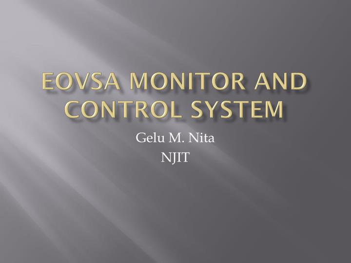 eovsa monitor and control system n.