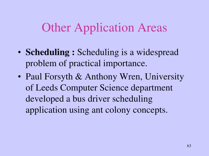 Other Application Areas