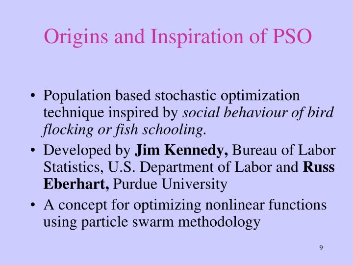Origins and Inspiration of PSO