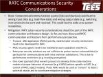 ratc communications security considerations