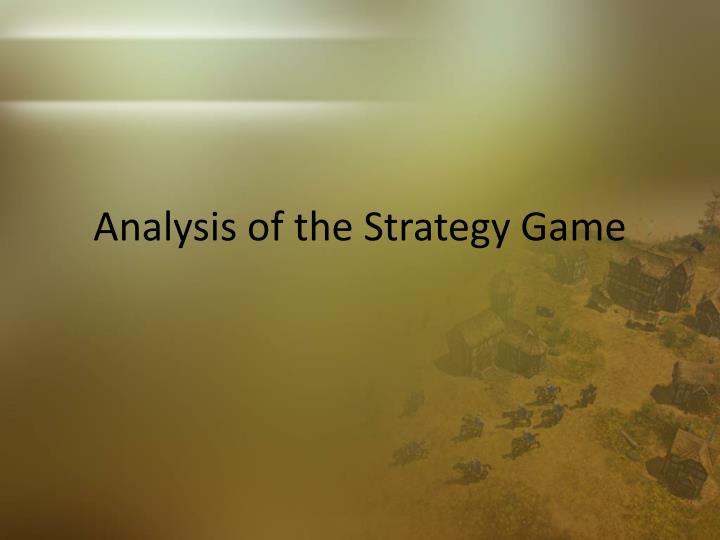 Analysis of the Strategy Game