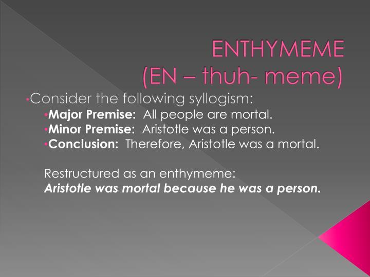 ENTHYMEME