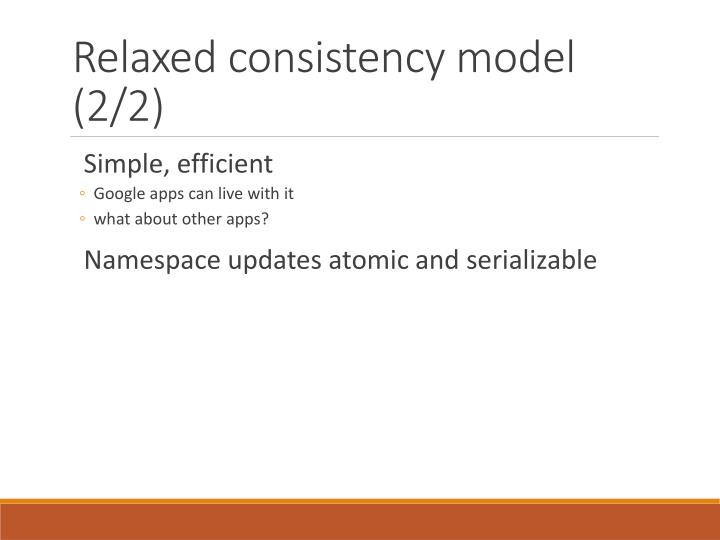 Relaxed consistency model (2/2)