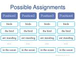 possible assignments