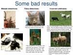 some bad results