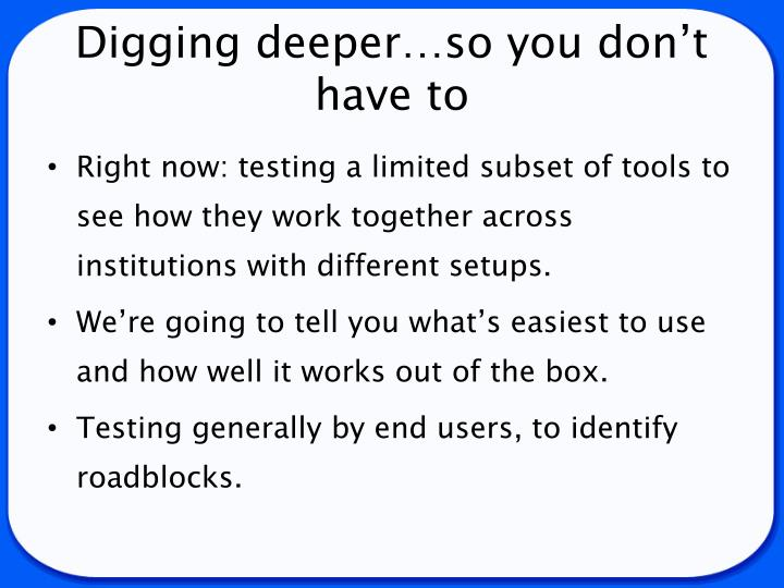 Digging deeper…so you don't have to