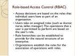 role based access control rbac