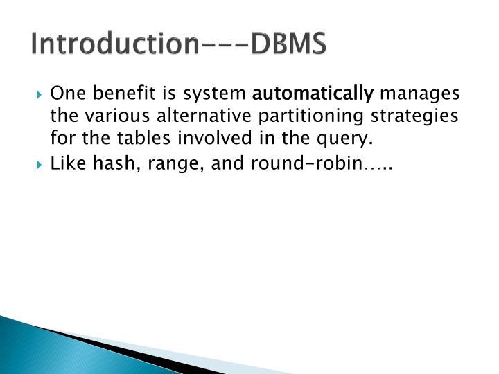 Introduction---DBMS