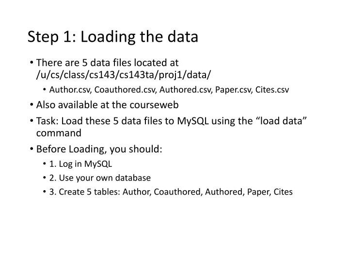 Step 1: Loading the data