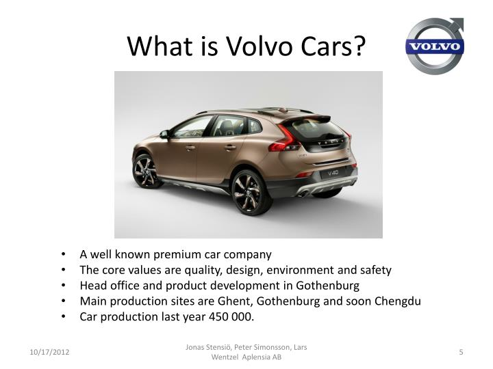 What is Volvo Cars?