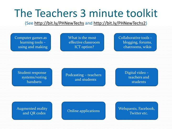 The Teachers 3 minute toolkit