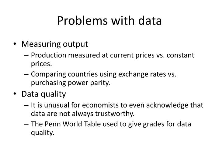 Problems with data