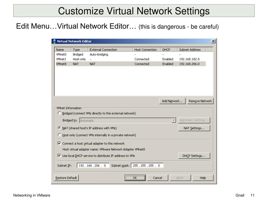 PPT - Networking in VMware Workstation 8 PowerPoint Presentation