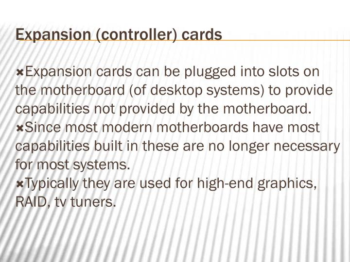 Expansion (controller) cards