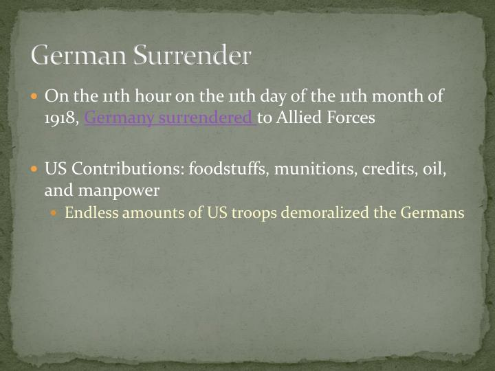German Surrender