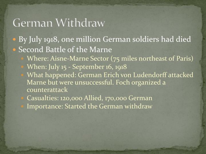 German Withdraw