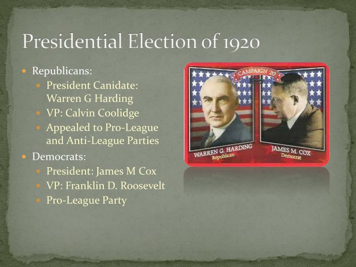 Presidential Election of 1920