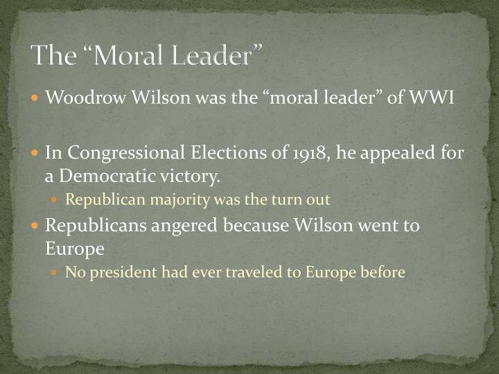 """The """"Moral Leader"""""""
