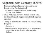 alignment with germany 1870 90