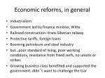 economic reforms in general
