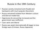 russia in the 19th century