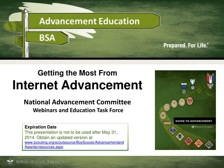 getting the most from internet advancement n.