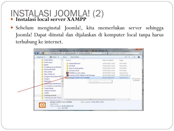 INSTALASI JOOMLA! (2)