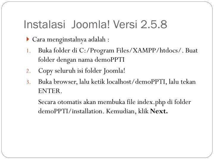 Instalasi  Joomla! Versi