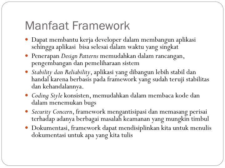 Manfaat Framework