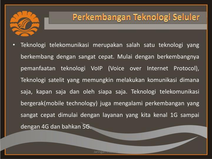 Perkembangan teknologi seluler