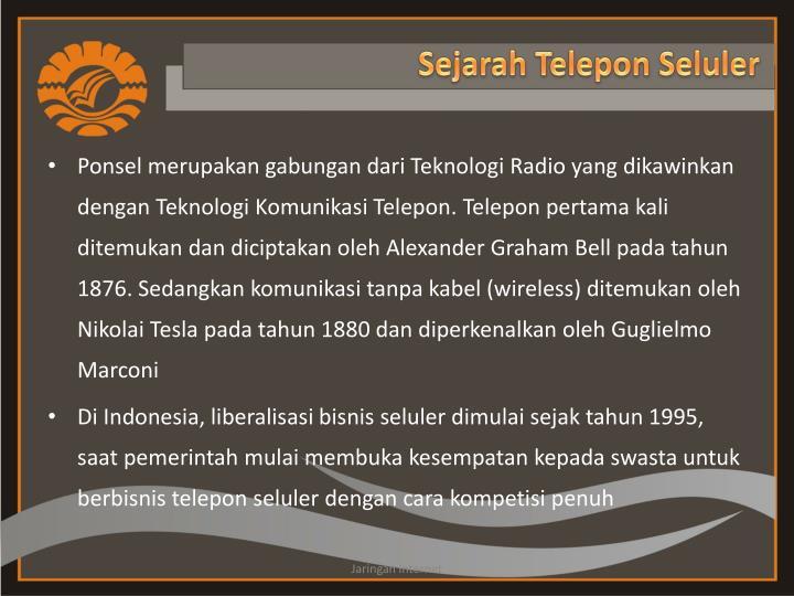 Sejarah telepon seluler
