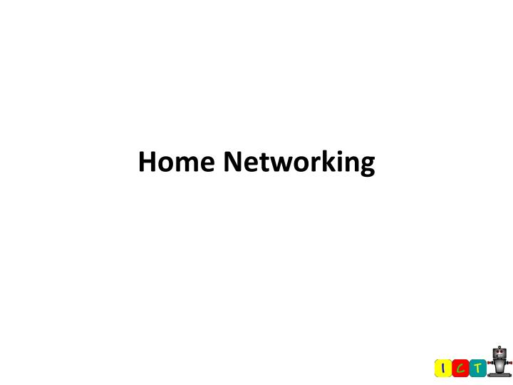 home networking n.