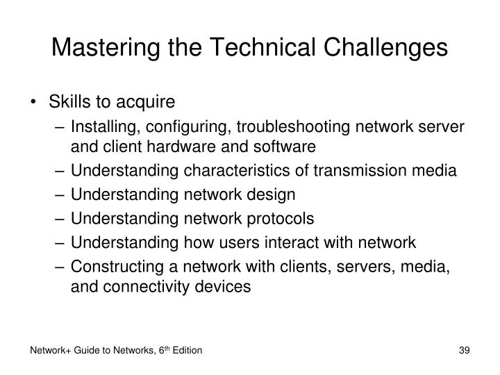 Mastering the Technical Challenges