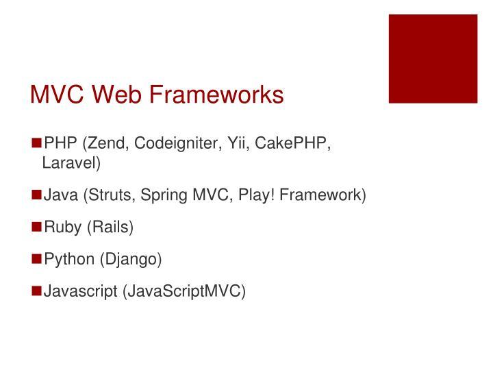 MVC Web Frameworks