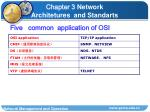 five common application of osi