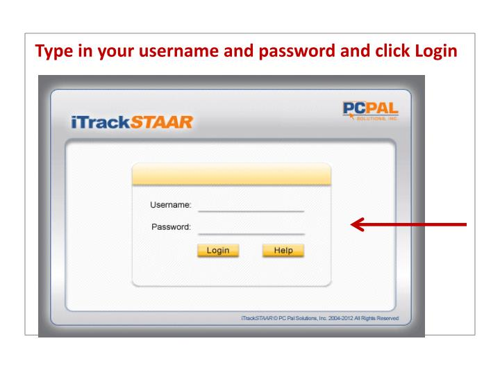 Type in your username and password and click Login